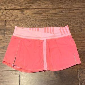 Size 10 Lululemon Pop Orange/Coral Run: Pace Skirt